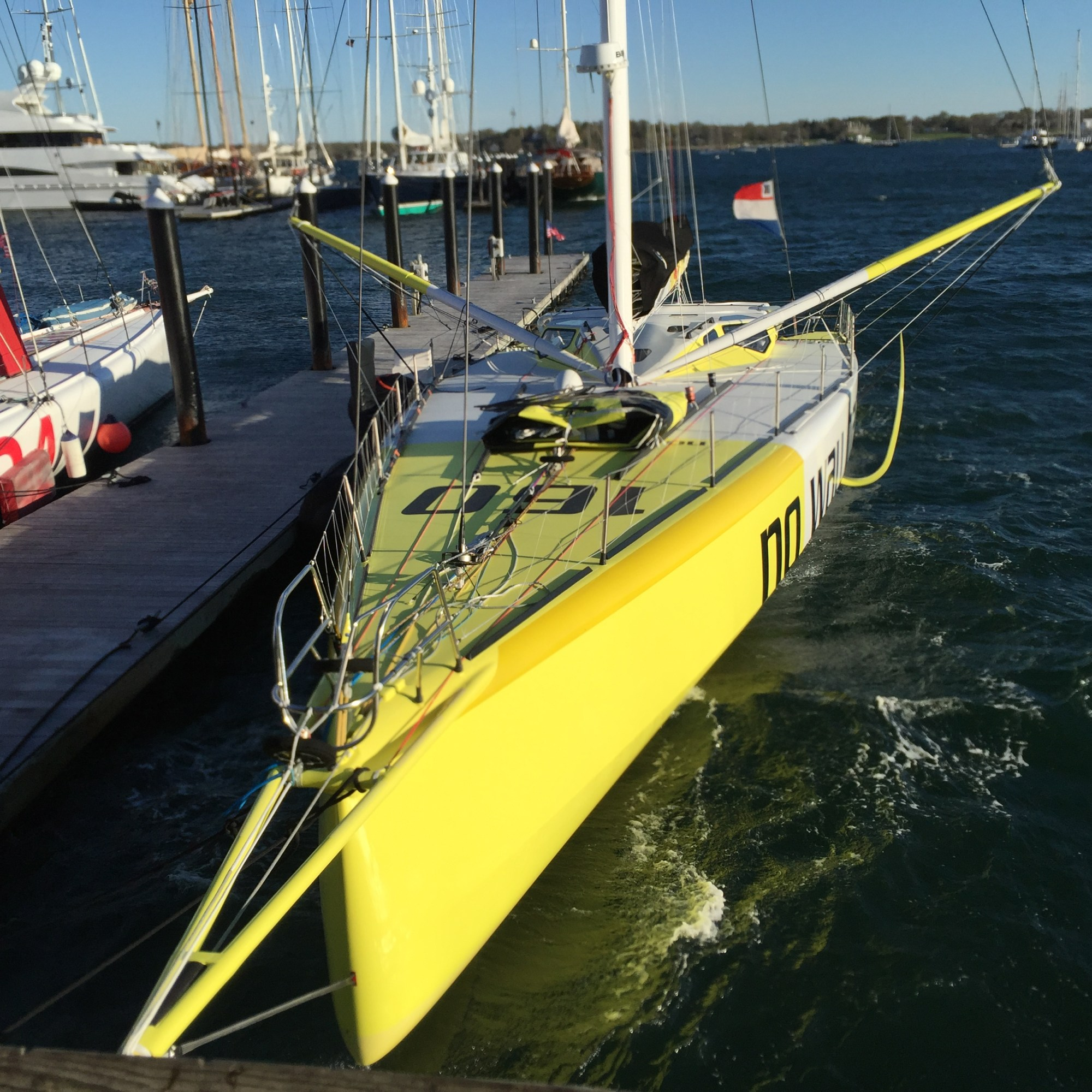 hight resolution of this latest generation imoca 60 has the now common deck spreaders and wing shection mast