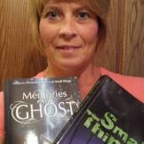 Becky Roberts Hardy with two of my books