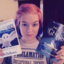 Author Brooke Johnson with two of my books.