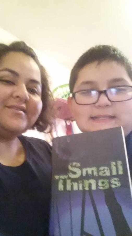 Maria Romano and her son Jorge with Small Things