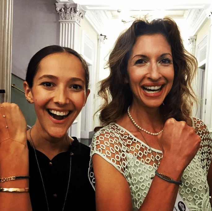 Jessica Hendricks and Alysia Reiner, actress and activist, and supporter of The Brave Collection