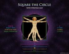 Vitruvian Man Square the Circle
