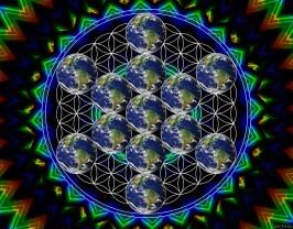 Earth Flower Cube
