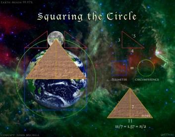 Square Earth Moon Pyramid