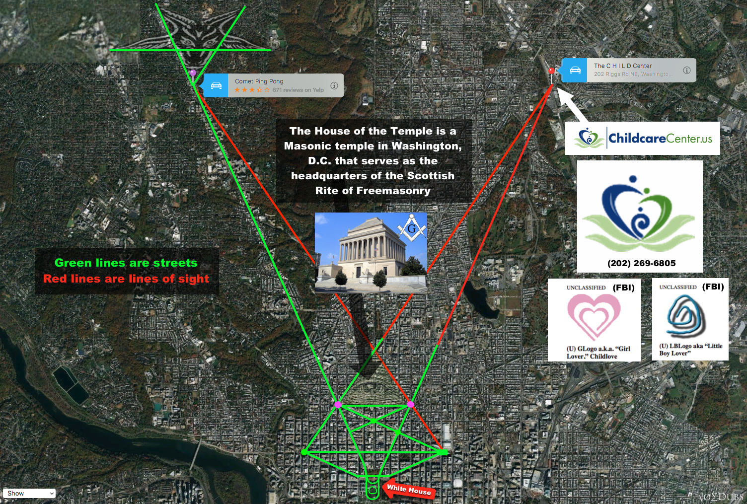 Pentagrams Of Pederasty The Elephant In The Room - Washington dc map conspiracy