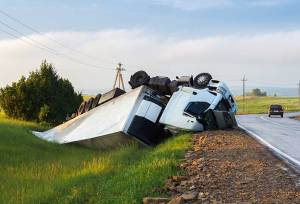 A severe truck accident near Albany