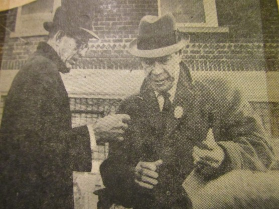 Mr. Joe E. Brown visits Holgate, Ohio -- 1965
