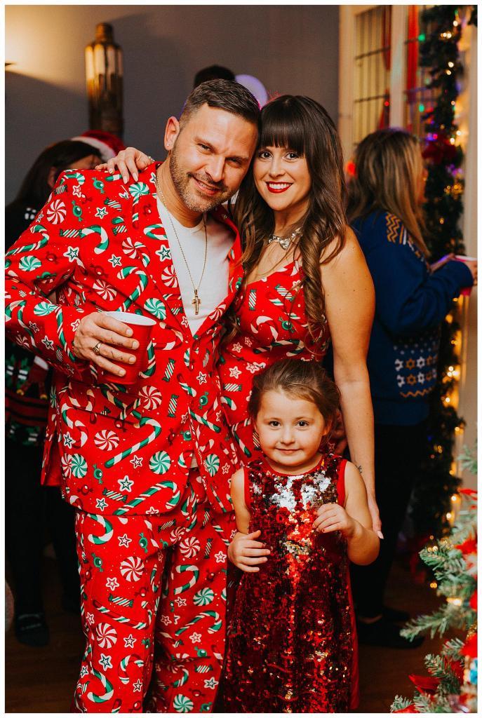Christmas dress and tux
