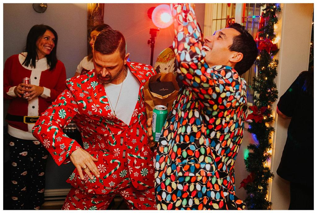 guests dancing at Christmas Elopement