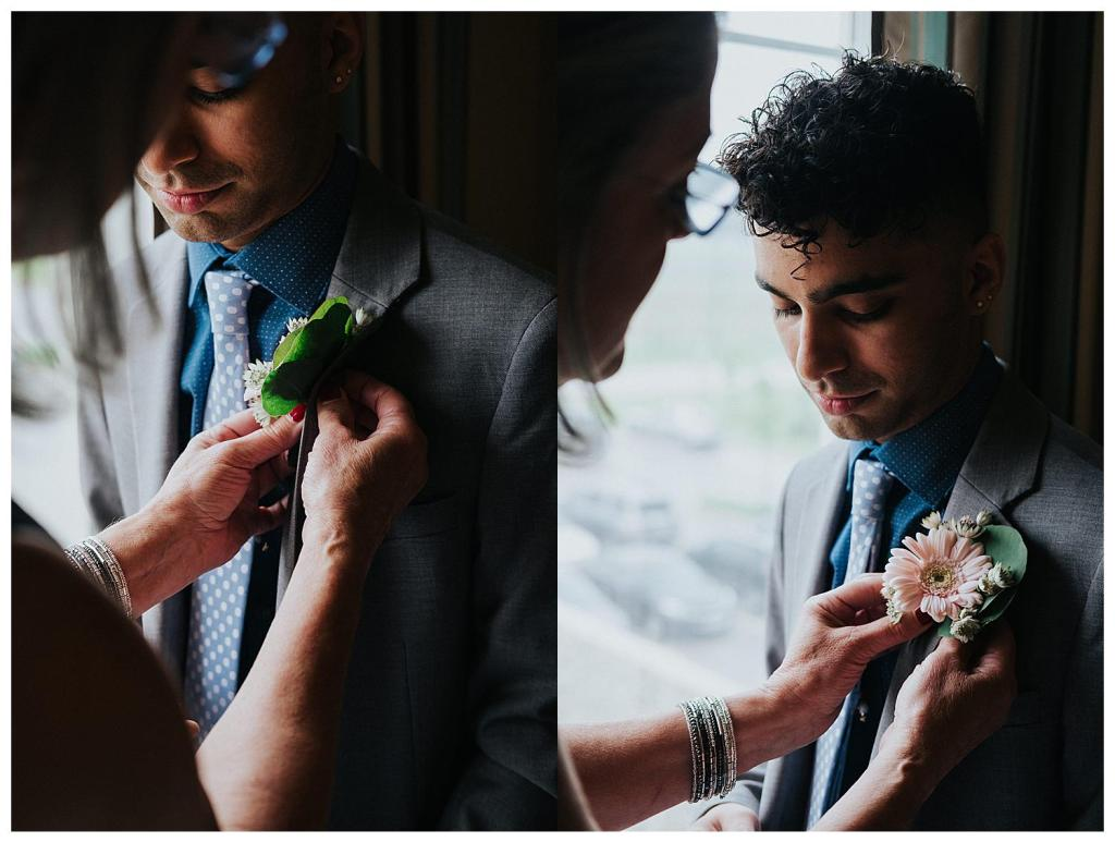 Man of Honour Boutonnière | Hanover Wedding | Wedding Getting Ready Inspiration