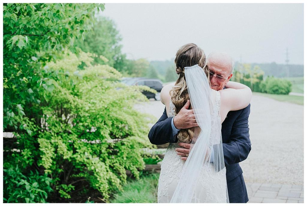 First looks with the brides father | The Special Events Centre Wedding