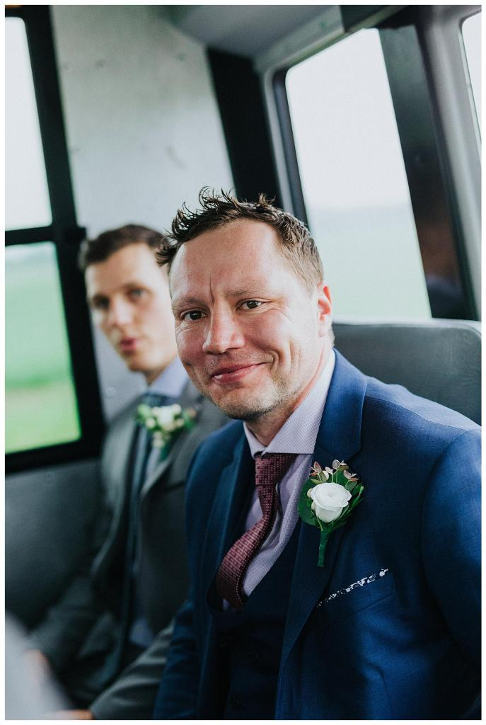 Busses on a wedding is the best way to travel, especially since all your guests can come with you! | Hanover Wedding | Special Events Centre