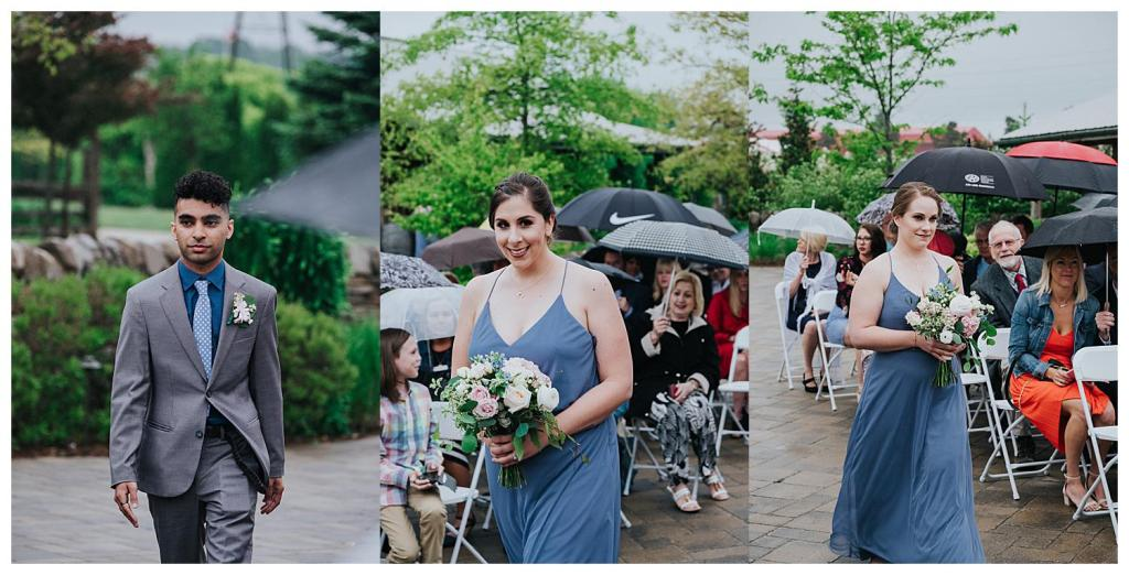 Brides maids and Man of honour walking down the aisle | Hanover Wedding | Special Events Centre