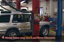 Four-Minute Frame Swap on Land Rover