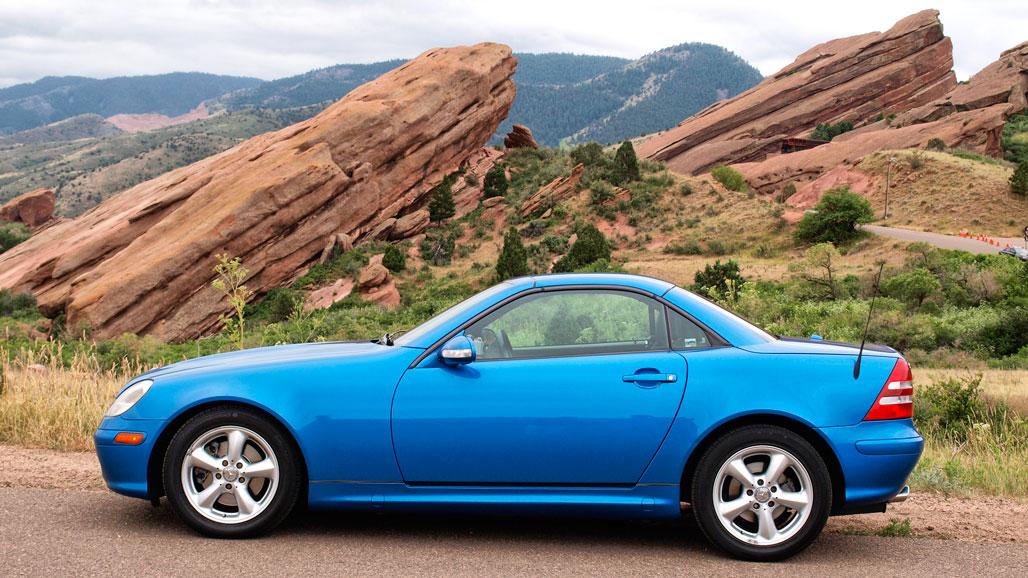 Mercedes SLK at Red Rocks