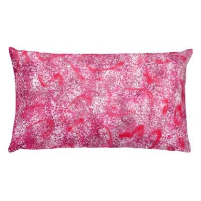 Stardust Red rectangular pillow