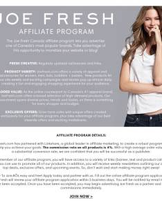 Become an affiliate joefresh also rh