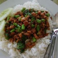 Pad Krapow Gai or Moo ผัดกระเพราไก่หรือหมู (Thai Basil Chicken or Pork)