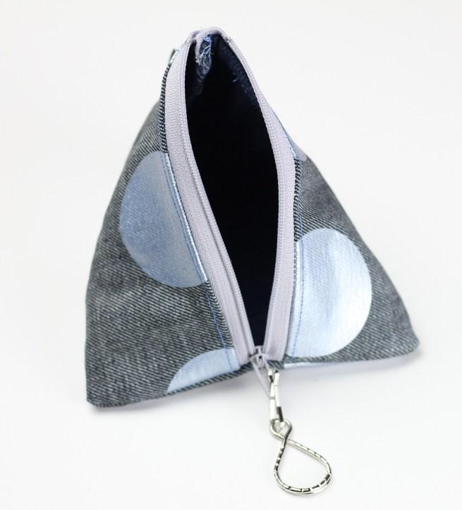 Metallic Polka Dot Triangle Pouch
