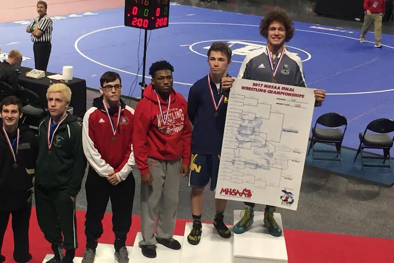 Mendon's Crespo scores wrestling state title to lead group of seven St. Joseph County all-state performers