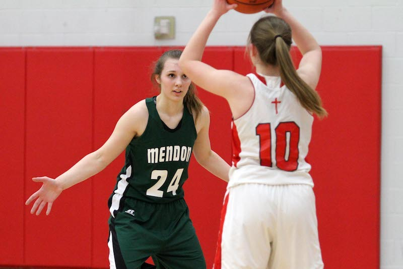 St. Philip girls basketball team survives Mendon's second-half rally for Class D regional semifinal win