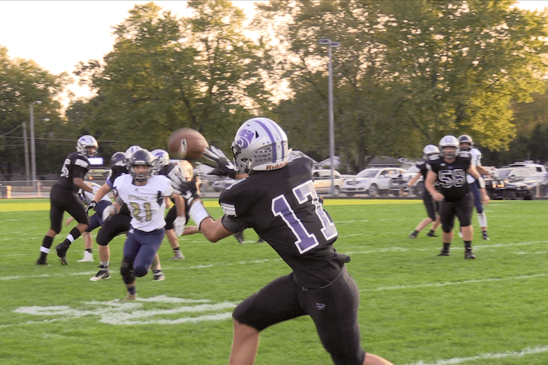 Video: Three Rivers football team stomps Otsego for third win of the year