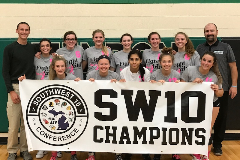 Video: Mendon volleyball claims Southwest 10 Conference title