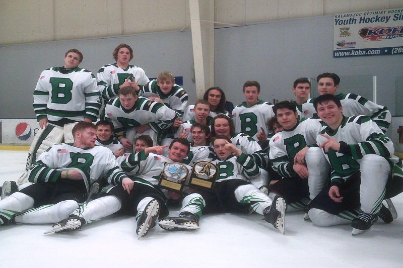 Blades win first ever SWMHSHL tournament championship, defeating Mattawan 5-2