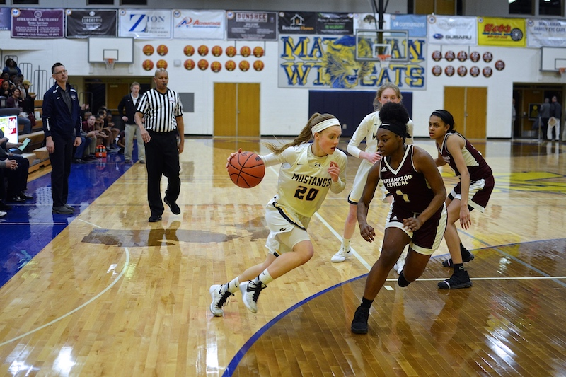 Despite district loss, Portage Central girls basketball on the uptick with Rob Brown at the helm