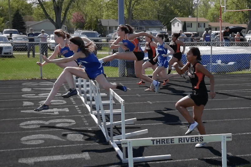 Three Rivers girls track goes 3-0, Sturgis boys win at Wolverine Conference duals