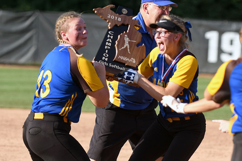 Gallery: Centreville softball top dog in Division 4 after beating Coleman in state finals