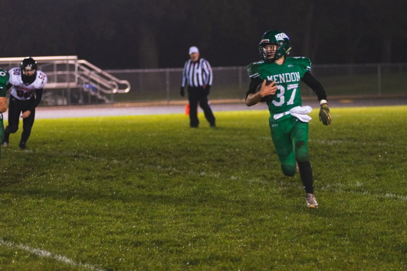 Mendon football gets to five wins after blowout against Marcellus in regular season finale