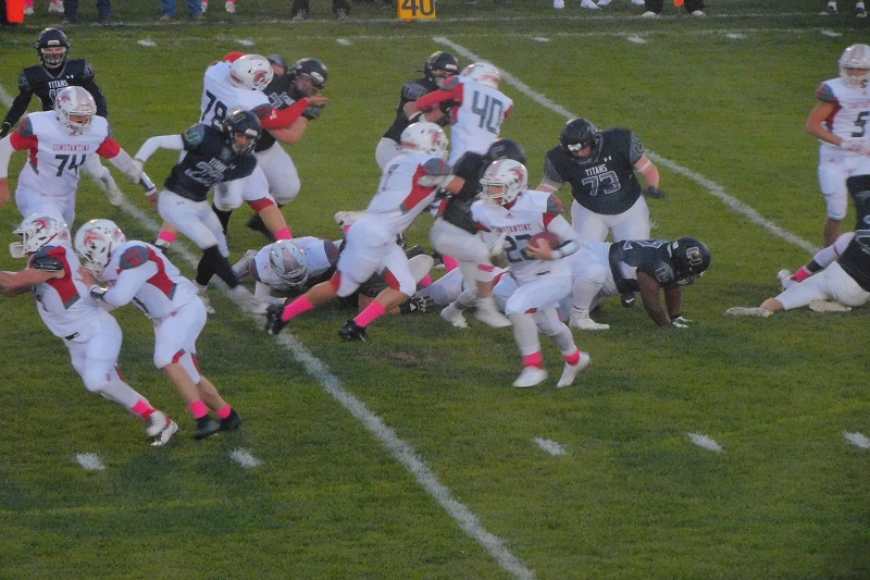 Constantine claims share of SAC Lakeshore with 43-28 win at Kalamazoo United