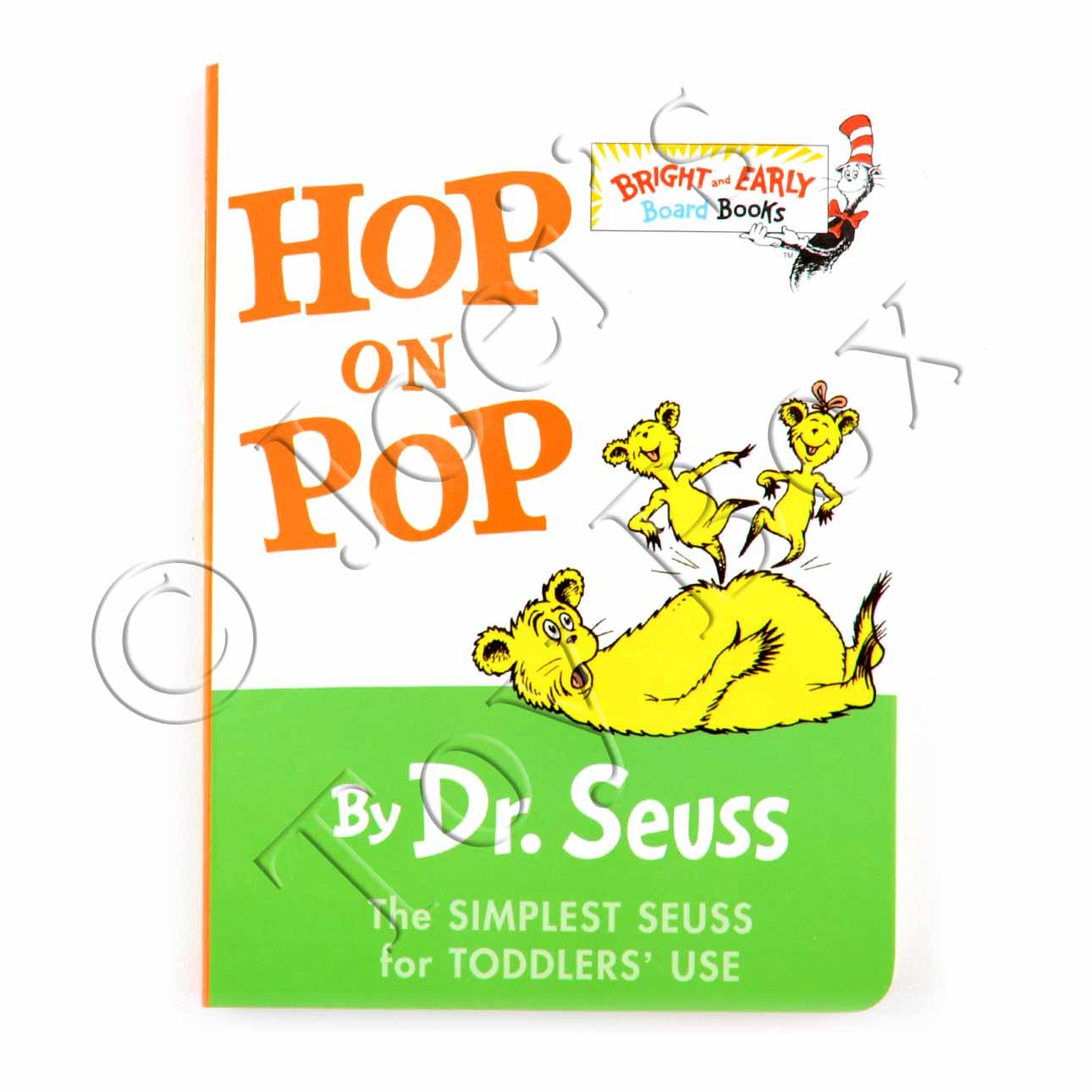 Hop On Pop By Dr Seuss Board Book Joei S Toy Box