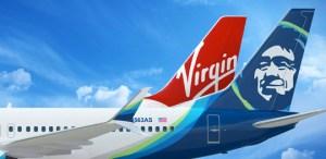 Alaska Virgin Airlines tails