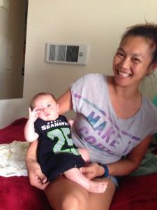 Ava Kalea Kennedy Seattle Seahawks Richard Sherman 25