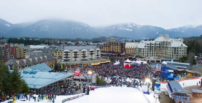 Big Air Crowd Shot from Whistler Mountain - Photo Credit Mike Crane