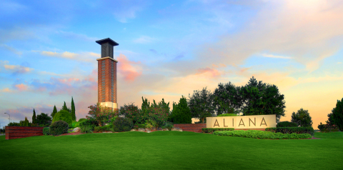 Houston's Aliana Master-Planned Community Ranked Top 30 in US Sales