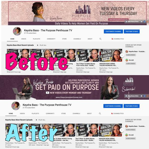 Stacia Kennedy YouTube banner comparison
