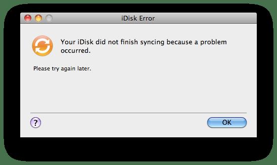 iDisk Error