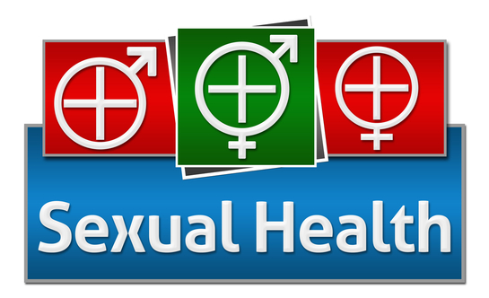 Sexual Health Red Blue Green Squares