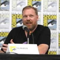 "Writer Tim Hedrick speaks at DreamWorks Animation ""Voltron"" Panel at 2016 Comic-Con on Thursday, July 21, 2016, in San Diego, Calif. (Photo by Eric Charbonneau/Invision for DreamWorks Animation/AP Images)"