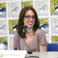 "Director Lauren Montgomery speaks at DreamWorks Animation ""Voltron"" Panel at 2016 Comic-Con on Thursday, July 21, 2016, in San Diego, Calif. (Photo by Eric Charbonneau/Invision for DreamWorks Animation/AP Images)"
