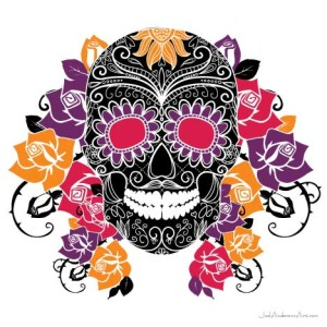 ceramic-tile-sugar-skull-muerto-flowers-joel-anderson