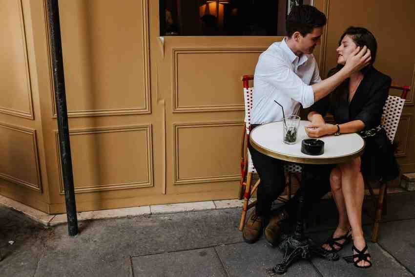 paris cafe engagement session