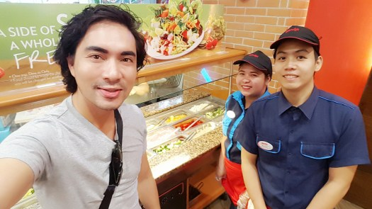 Me by the Salad Bar with Cristina and Mavs of Wendy's SM North EDSA Annex branch