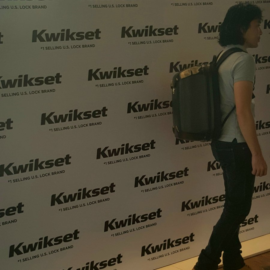 Me arriving early at the Kwikset Roadshow Manila 2018