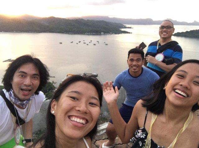 Bloggers at the Caluya Shrine in Sapang Dalaga