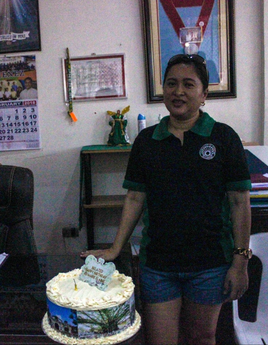 RD May Salavana-Unchuan with her surprise birthday cake