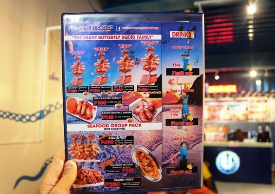 Above Sea Level's Menu
